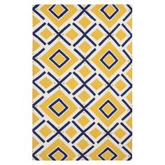 A bold diamond trellis motif highlights this hand-tufted wool rug, pairing a classic pattern with an appealing burst of color.    Produc...