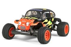 The new 2011 version of the Tamiya Blitzer Beetle is a re-release version of the Blitzer Beetle R/C assembly kit, which was inspired by the exciting off-road desert racer designs seen in the United States. Rc Kits, Hors Route, Off Road Tires, Tamiya Models, Baja Bug, Beetle Car, Motor Speed, Thing 1, Rc Trucks