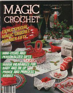 Magic Crochet Magazine October 1987 by creekyattic on Etsy, $4.00