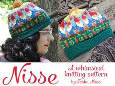 Friends, it's been a long time coming, but my second knitting pattern is finally released! Meet Nisse. Nisse is a whimsical little stranded hat inspired by folk-and-novelty themed patterns of the 1...