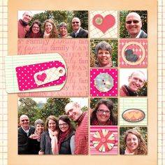 family scrapbook pages