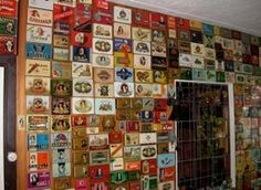 Bob's walls go on and on, a museum of<br />post WWI Dutch cigar boxes.<br />[04-9857