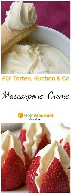 Delicious mascarpone cream to garnish cakes or fruits .- Italian mascarpone cream is made easier than you might think and tastes so delicious. Italian Cookie Recipes, Best Italian Recipes, Italian Cookies, Italian Desserts, Pastry Dough Recipe, Italian Pastries, Cupcakes, Cupcake Frosting, Food Garnishes