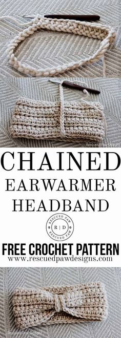 This free crochet ear warmer pattern is the perfect way to stay warm in the chilly winter months. This crochet ear warmer headband pattern is a projec. Crochet Ear Warmer Pattern, Crochet Headband Pattern, Crochet Beanie, Crotchet, Crocheted Hats, Tutorial Crochet, Crochet Tutorials, Bandeau Crochet, Crochet Chain