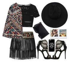 """""""I'M SORRY IT'S JUST THAT I LITERALLY DON'T CARE AT ALL"""" by mockingjayafire ❤ liked on Polyvore featuring Valentino, Hervé Léger, Zara, Giuseppe Zanotti, Casetify, Sole Society and Gladys Tamez Millinery"""
