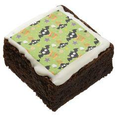 #Cute Halloween Black Bat Boo Brownie - #halloween #brownies #sweets #goodies