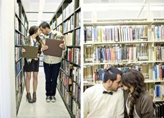 couple-library-heads-together-vintage-flags-love