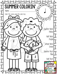 68 awesome summer themed music worksheets! http://www.teacherspayteachers.com/Product/Music-Summer-Worksheets-Mega-Pack-68-Worksheets-72-Pages-1228172