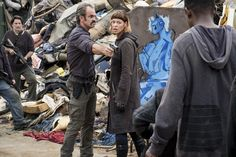 Steven Ogg as Simon, Pollyanna McIntosh as Jadis - The Walking Dead _ Season Episode 10 - Photo Credit: Gene Page/AMC Walking Dead Season 8, The Walking Dead Tv, Rick And Michonne, Movie Co, Big Scary, Free Tv Shows, Dead Inside, Stuff And Thangs, The Day Will Come