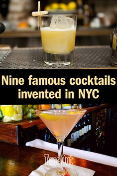 For famous cocktails like Martinis and Manhattans, head to these iconic NYC bars to sip on a piece of US history. Famous Cocktails, Martinis, Inventions, Alcoholic Drinks, Nyc, New York, History, Food, New York City