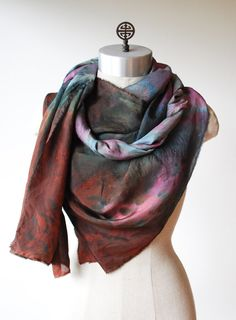 the nebula scarf mysterious scarf silk shawl by 88editions on Etsy
