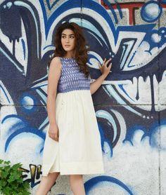 Buy The Effortless Edit by Ninoshka Khadi cotton dresses, tops and tunics in Ikat Online at Jaypore.com