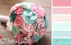 Palette per matrimonio rosa e azzurro. Wedding Color palette pink and blue for wedding. #wedding #palette