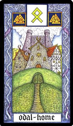 23 Othala - Witches Runes by Silver RavenWolf and Nigel Jackson Rune Symbols, Mayan Symbols, Sacred Symbols, Viking Symbols, Egyptian Symbols, Viking Runes, Ancient Symbols, Vikings, Tarot
