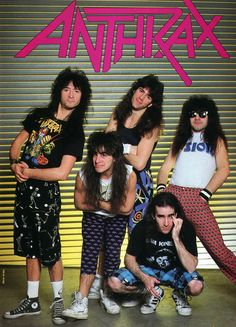 Anthrax, just being 80's as fuck