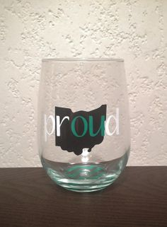 Ohio University Bobcats  'Proud' Stemless Wine by ShippsBoutique, $9.00 - SOMEONE BUY ME THIS!!!