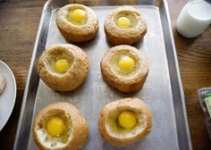 Land o' Lakes Eggs Baked in Bread Bowls recipe - What a beautiful presentation! Great way to use leftovers in your fridge and a delicious breakfast.