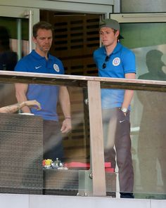 June 4: Niall at his hotel in Manchester for Soccer Aid