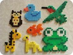 Perler bead animals
