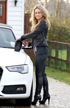 Get the keys and go: Ola Jordan is pictured getting ready to have a meeting with her agent