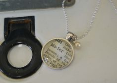 Vintage Dictionary Word Necklace Pendant Sister by kraftykash, $21.00