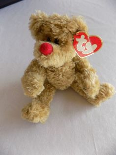 2dc21e9d0ab Picadilly Jointed Red Nose Teddy Bear TY The Attic Treasures Collection 1993  GUC. Beanie BabiesTy ...