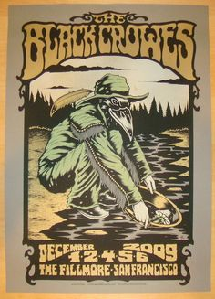 2009 Black Crowes - San Francisco Concert Poster by Alan Forbes