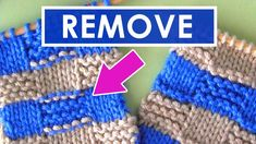 How to Remove Purl Dash Lines | Knitting Stripes Series - YouTube