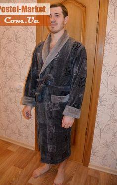 Мужской халат Nusa 2010 хлопок серый купить в интернет магазине Постель Маркет (Киев, Украина)