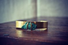 LUX One Stone Stacking Brass Bracelet Bohemian by luxdivine