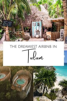 Where to stay in Mexico? Let me introduce you to the dreamiest Tulum Airbnb - for honeymooners, digital nomads & wanderers. Tree houses, jungle villas, beach condos, and chic rooms in Tulum town as well as Tulum Playa. As well as tips on how to book your Airbnb in Tulum. #mexico #tulumAirbnb in Tulum | Tulum Mexico Airbnb | Best Airbnb in Tulum | Rental houses in Tulum | Where to stay in Tulum | Tulum Accommodation | Where to stay on Tulum beach Tulum Mexico Resorts, Mexico Destinations, Vacation Destinations, Dream Vacations, Tulum Hotels, Mexico Honeymoon, Mexico Vacation, Mexico Travel, Mexico Trips