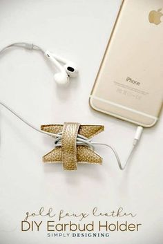 15 DIY Earbud Holder Ideas to Easily Hold Your Earphones ⋆ DIY Crafts