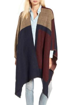 BP. Colorblock Poncho -- I like the pattern on mine better, but I couldn't find a pic.  However, these are the colors.
