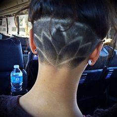 Nape undercut hairstyle designs: Lotus. http://strayhair.com/hairstyles/12-nape-undercut-hairstyle-designs/