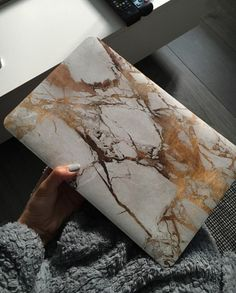 Marble MacBook Hard Case White x Gold for by BeautifulCovers