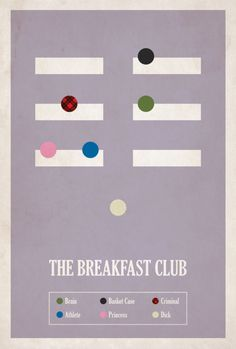 "Love this poster! ""El club de los 5"" - ""The breakfast Club"" Emilio Estevez Judd Nelson Molly RingWald Ally Sheddy Anthony Michael Hall Paul Gleason 1985 John Hughes"