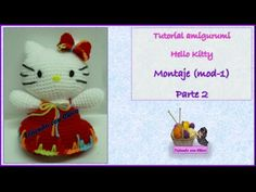 Tutorial amigurumi Hello Kitty - Montaje 1/2 (mod-1) (English subtitles) - YouTube