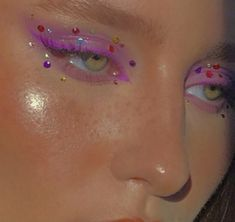 Cute Makeup Looks, Makeup Eye Looks, Eye Makeup Art, Pretty Makeup, Skin Makeup, Eyeshadow Makeup, Edgy Makeup, Makeup Goals, Makeup Inspo