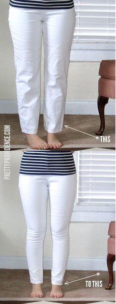 Super fácil tutorial sobre como transformar calça jeans da mamã em skinny jeans que se encaixam perfeitamente! Eu fiz isso com como 4 pares de calças de brim thrifted agora .. love it!