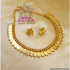 Gold Jewelry Design In India Antique Necklace, Antique Jewelry, Gold Jewelry Simple, Temple Jewellery, India Jewelry, Gold Jewellery Design, Rhinestone Jewelry, Pearl Jewelry, Gold Set
