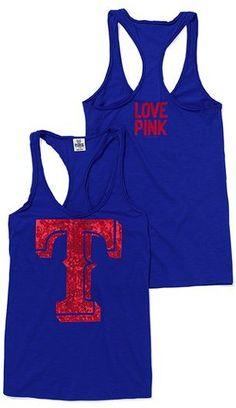 Victoria's Secret Pink® Texas Rangers Bling Racerback Tank :)