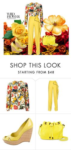 """wild flower"" by skatiemae ❤ liked on Polyvore featuring FAUSTO PUGLISI, Vionnet, Jil Sander and Poverty Flats"