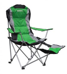 Gigatent Green Camping Chair with Footrest