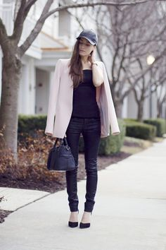Black Leather Cap Classy and fabulous