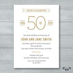 Anniversary Party Invitation    Wedding by PandafunkCreations