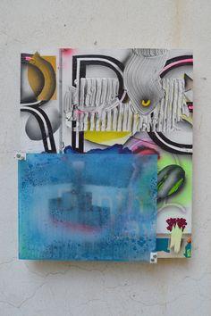 """Default Away from keyboard series. 2017 mixed media on plywood 50 x 40 cm Mixed Media, Gallery, Plywood, Keyboard, Artist, Hardwood Plywood, Roof Rack, Artists, Mixed Media Art"