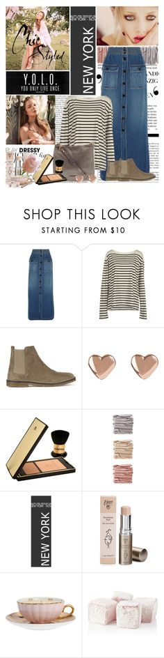 """LONG DENIM SKIRT"" by snje2105 ❤ liked on Polyvore featuring Chloé, Ralph Lauren, Marc by Marc Jacobs, Vince, Ted Baker, Sisley, NARS Cosmetics, MOR Cosmetics, Harrods and Julia Knight"