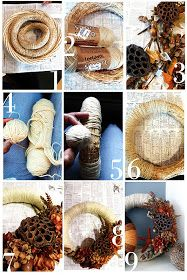 Bold Beautiful Brainy - A Life Well Lived: Project 12: Wrapped Yarn Fall Wreath (DIY for Busy Gals)