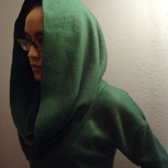 DIY sweater. I wouldn't make this exactly because people look like their being born again when they wear cowlneck sweaters. But the general idea is useful.