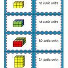 This is a matching game for students to practice counting cubes to find the volume of a prism.  The idea is to have students practice finding volum...